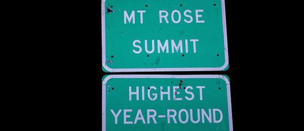 Reno Nevada's Scenic Mt. Rose Highway Plans Infrastructure Improvements